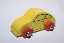 WOODEN WOOD VW VOLKSWAGEN BEETLE KAFER CAR YELLOW EXCELLENT CONDITION