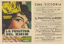 Programa PUBLICITARIO de CINE: La fugitiva del Rhin.