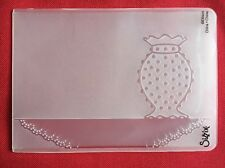 Sizzix A6 Embossing Folder Hobnail Vase  New