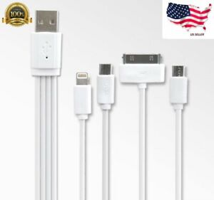 4 in 1 Multi USB Charging Cable Fast Charger Cord For iPhone/Type C/Micro USB
