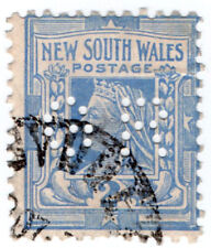 (I.B) Australia - NSW Postal : 2d Blue (SG 336) GR perfin