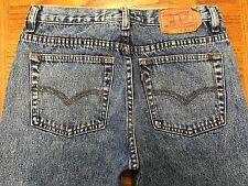 RARE LEVIS 850 STRAIGHT LEG ACID WASHED VINTAGE USA JEANS SZ 31 x 32 BEST Z39