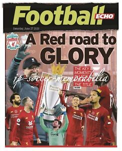 """Liverpool FC English Champions 2020 – Liverpool Echo """"RED ROAD"""" - 27 June 2020"""