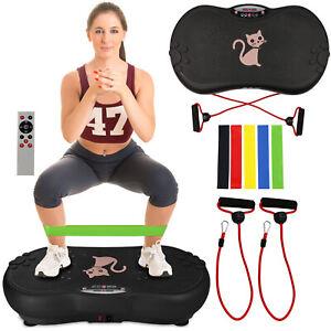 Vibration Platform Plate Whole Body Massager Machine Slim Exercise Fitness Black