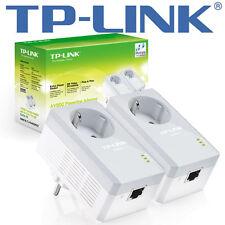 TP-LINK TL-PA4010PKIT AV500  PowerLan / Powerline Kit  integrierte Steckdose NEU