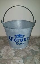 VTG Galvanized Corona Extra Beer Bucket w/ Handle/ Made in Mexico