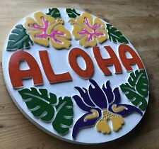 Aloha Tiki Bar sign 3D routed carved wood Island beach surfer bar Cusotm