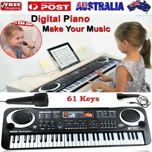 61 Keys Electronic Music Keyboard Organ Piano Set With Microphone Kids Set