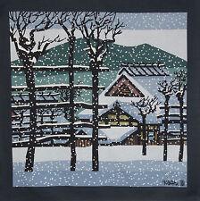 Furoshiki Japanese Fabric Clifton Karhu 'Koshihata Snow' Motif Cotton 90cm