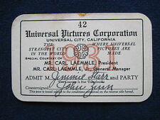 ORIGINAL 1931 UNIVERSAL STUDIO SEASON PASS for Hollywood Columnist JIMMY STARR