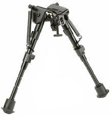 "Rifle Bipod 6"" - 9"" Harris Style Adjustable Metal Spring Legs Hunting Tactical"