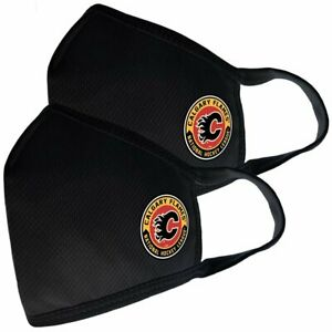 Calgary Flames NHL Team Logo Two Pack Face Covers with Filter