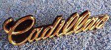 NEW NOS Original OEM GM 80's GOLD Metal Cadillac Models Grille Emblem Ornament