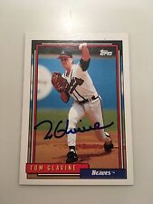 HOF Tom Glavine Autograph Signed Topps 1992 Baseball Card FREE FAST SHIPPING!