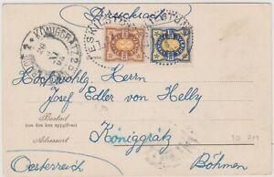 Sweden to Bohemia  Austria old view card 1903 Warberg Eskilstuna