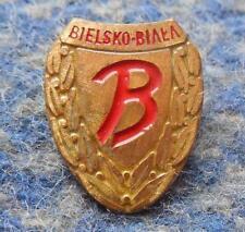 BUDOWLANI BIELSKO BIALA / > PODBESKIDZIE / POLAND FOOTBALL SOCCER 1980's PIN