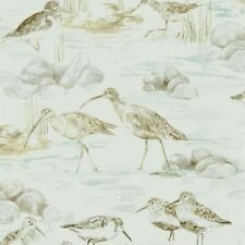 2 Rolls Sanderson Estuary Birds Mist/Ivory Wallpaper 216494
