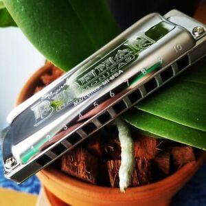 NEW MODEL! Bushman Delta Frost Harmonica STEELIE - ALUMINUM COMB