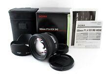 【AS-IS】Sigma 50mm f/1.4 EX DG HSM Lens for Nikon w/Hood, Case & Box 754159