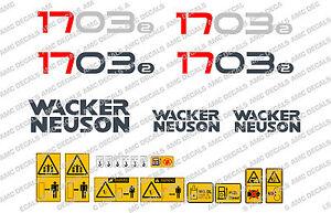 NEUSON 1703 DIGGER DECALS STICKER SET