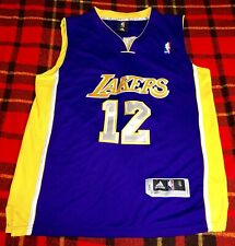 Vintage LA Lakers Dwight Howard #12 Authentic Double Stitched Sewn NBA Jersey