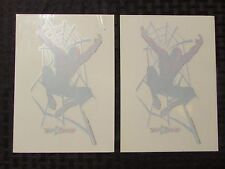 """2002 Toys R Us Spider-Man Promo Decal 5x7"""" Lot of 2 Nm"""