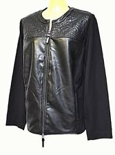 TS jacket TAKING SHAPE plus sz S / 16 'Red Rider' leatherette/ponti NWT rrp$200!