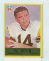 BILL NELSEN 1967 PHILADELPHIA FOOTBALL  #155 PITTSBURGH STEELERS