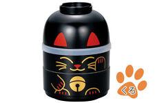 BENTO お弁当 BOX Manekineko NERO 440 ml + bol + elasticizzato (SMALL) Made in Japan