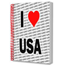 I Love USA - A5 Notebook Pad Diary Drawings Birthday Christmas Gift