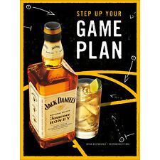 """JACK DANIELS HONEY """"GAME PLAN""""  18 BY 26 POSTER NEW"""