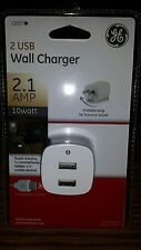 NEW OEM GE Wall Charger 2 USB 2.1 AMP 10 Watt -