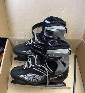 Bladerunner Zephyr W Ice Skates Womans Size 8 Black /Purple -New