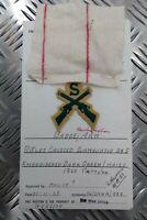Authentique Vintage British Army Inspectorate De Magasins & Vêtements' Carte