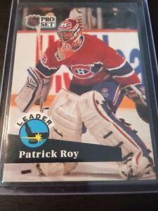 1991-92 PRO SET # 599 PATRICK ROY !!