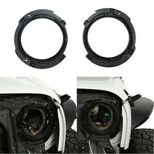 2Pcs 7inch LED Headlight Round Ring Mounting Bracket for 07-18 Jeep Wrangler JK