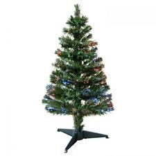 3ft Green Christmas Xmas Tree with Pre-Lit fibre optic lights