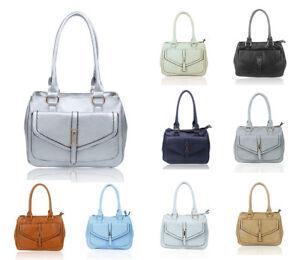 Women's Medium Double Compartments Top-Handle Messegner Handbag Shopper Hobo Bag