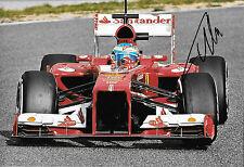 Fernando Alonso firmado 12x8, F1 Scuderia Ferrari F138. prueba Barcelona 2013
