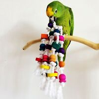 New Birds Toy Colorful Wood Cotton Rope Parrot Hamster Chew Peck Hanging Toys
