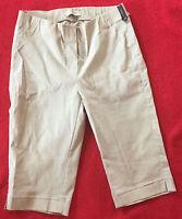 STEHMANN SILAS-330 Damen Stretch Hose Shorts beige cremefarben Gr. 36