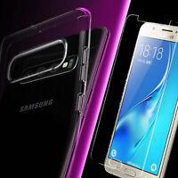 Für Samsung Galaxy S10+ Plus Hülle Klar Transparent Case TPU Schutz Handy + Glas