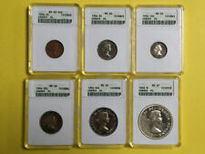 1956 Canada Year Set ANACS graded MS65 MS66 & MS67 - See photos