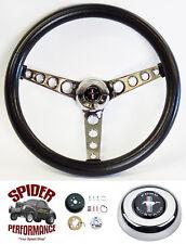 "1970-1973 Mustang steering wheel Pony 14 1/2"" CLASSIC CHROME steering wheel"