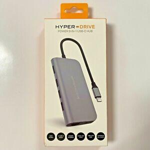 HyperDrive 9-Port Universal USB-C Hub Docking Station for Laptops NEW