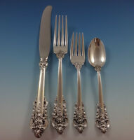 Grande Baroque by Wallace Sterling Silver Flatware Set 12 Service Dinner 53 Pcs