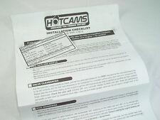 HONDA CRF450R TRX450 HOTCAMS CAMSHAFT INSTALLATION INSTRUCTIONS