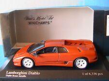LAMBORGHINI DIABLO 1994 COPPER METALLIC MINICHAMPS 400103570 1/43 ROSSO ROUGE