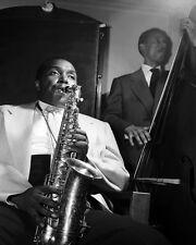 Charlie Bird Parker Jazz Musician  Black and White Art  Print Poster