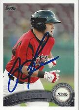 Jaff Decker Lake Elsinore Storm 2011 Topps Pro Debut Signed Card